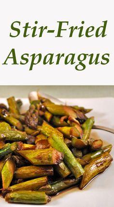 Asparagus and Green Garlic, stir-fried quickly