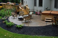 multi-level deck with patio | Mega-Arbel Patio and Custom Wood Deck Installation Chagrin Falls, OH ...