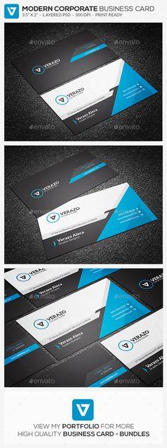 Modern Blue Corporate Business Card Template - Corporate Business Cards Download here : https://graphicriver.net/item/modern-blue-corporate-business-card-template/19356281?s_rank=76&ref=Al-fatih