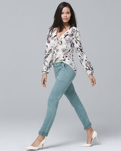 Women's Straight Crop Jeans by White House Black Market