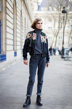 Paris Fashion Week FW 2014 Street Style: Caroline Brasch Nielsen