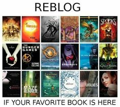 the hunger games, divergent, evermore, mortal instruments, maze runner, percy Jackson,