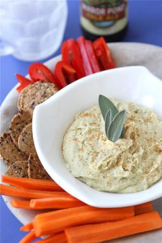 White Bean Dip Recipe with Parmesan Cheese & Sage by CookinCanuck