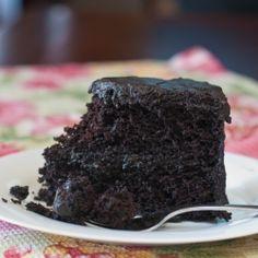 Black Midnight Cake by AFamilyFeast