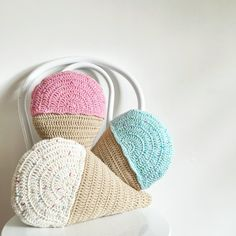 Crochet Ice Cream Cushion by Three Beans in a Pod