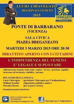 L'INDIPENDENZA DI SAN MARCO: APPUNTAMENTO CON LUCIO CHIAVEGATO IL 3 MARZO, BARB...