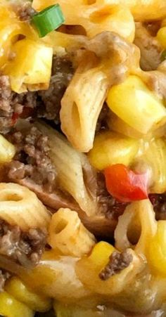 minutes, one pan} BBQ Beef Pasta Skillet Best Pasta Recipes, Best Dinner Recipes, Delicious Recipes, Noodle Recipes, Simple Recipes, Yummy Yummy, Yummy Food, Hamburger Meat Recipes, Beef Recipes