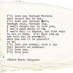 Typewriter Series #2176 by Tyler Knott Gregson