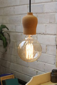 NUD Lampholder In Upcycled Cork Pendant Light Cords