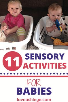 11 Activities to stimuate your baby's brain! Easy, fun, and sensory activities to try today with your baby! #baby #activities #babyactivities