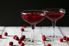 This cranberry gimlet makes a festive treat out of the classic. We're a big fan!