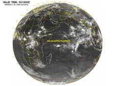 Tropical Indian Ocean Satellite Image
