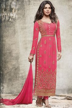 Stunning Pink Straight cut salwar suit  #salwarsuits #salwarkameez #salwarkameezonline #salwarsuitsonline #churidarsuits #DesignerSalwarSuits #palazzo suits #Salwarkameez #IndianSuits,  #AsianSuits