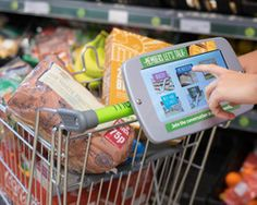 Co-operative food to fix tablets to trollies