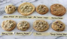 Why did my cookies turn out this way? A visual guide to that question.