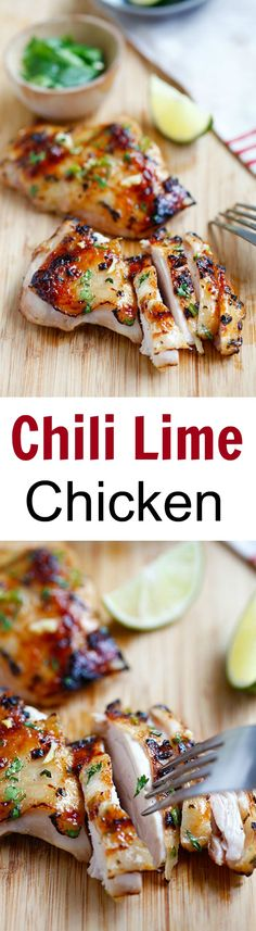The only grilled chicken recipe you'll need for July 4th - Chili lime chicken – so good!!! | rasamalaysia.com