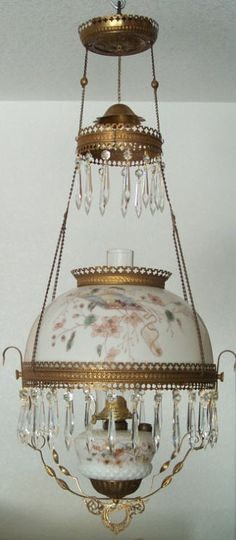 Antique Hanging Lamps :Stylishly furnished with classic elegance Antique Library & Hanging Lamps - Circa Antique Oil Lamps, Antique Chandelier, Vintage Lamps, Victorian Lighting, Victorian Lamps, Hanging Lights, Hanging Lamps, Beaver Dam, Classic Elegance