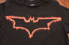 superhero bleached t shirts craft - Google Search
