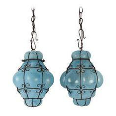 17 best antique lighting images on pinterest antique lighting vintage seguso murano blue glass cage pendant lights aloadofball Image collections