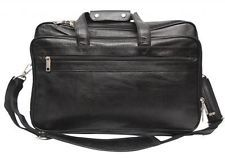 Comfort 17 inch Pure Leather Black Laptop Bag for men and women unisex EL50