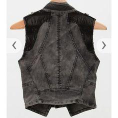 Asymmetrical vest Buckle, Double Zero Black/grey vest with awesome detailing Mint condition! 45% off! Buckle Jackets & Coats Vests