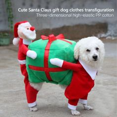 Funny Christmas Gift Fancy Jumpsuit Puppy Costume For Small Dogs - Exclusive Custom Handmade Pet Clothes ** You can get more details by clicking on the image. (This is an affiliate link) Dog Christmas Gifts, Christmas Animals, Christmas Cats, Christmas Humor, Christmas Clothes, Christmas Puppy, Christmas Presents, Christmas Ornaments, Dog Halloween Costumes