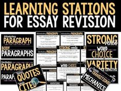 Help for essay revision: use learning stations to engage your students in a thoughtful approach to the revision and peer feedback process.