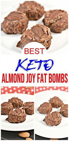 Keto snacks recipes or keto dessert recipes - best keto Almond Joy fat bombs recipes.Quick & simple low carb dessert or low carb snacks. Keto Friendly Desserts, Low Carb Desserts, Dessert Recipes, Snacks Recipes, Keto Snacks, Keto Recipes, Healthy Recipes, Breakfast Recipes, Diet Breakfast