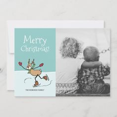 Shop Cute Dancing Reindeer - Christmas Holiday Card created by SQUIGLET. Reindeer Christmas, Christmas Holidays, Merry Christmas, Picture Boards, Whimsical Christmas, Colorful Drawings, Profile Pictures, All Design, Holiday Cards