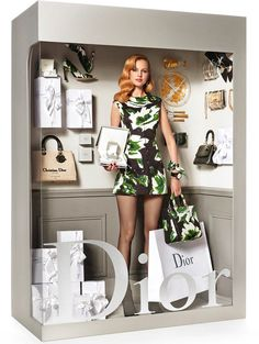 Dior fashion doll by photographer Giampaolo Sgura, who staged the models Magdalena Frackowiak and Elisabet Erm in the manner of fake Barbies for magazine Vogue Paris #logo #fashion #parody - Carefully selected by GORGONIA www.gorgonia.it