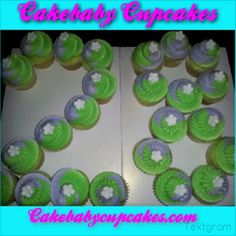 Margarita cupcakes in Purple, Lime Green, and White for a 28th Birthday Party!
