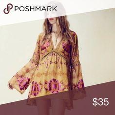 Bohemian New Retro Dress! Bohemian Retro Dress!  Weekend Warrior Host Pick! Only 1 left! Boutique Dresses Mini