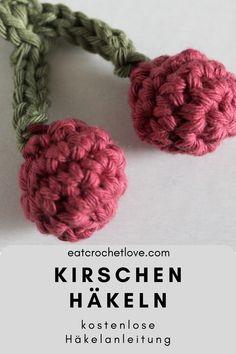 kostenlose Anleitung um Kirschen zu häkeln Drops Paris, Crochet Necklace, Cherries, Crafting