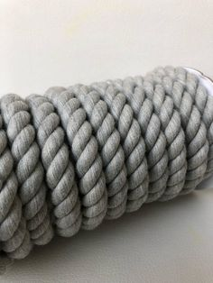 1ebc5464ba61 Grey Cotton twisted rope 13mm   decorative rope   rope DIY   Rope Crafts