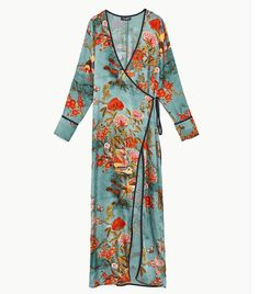 Zara has just launched a wedding guest collection—and it's as epic as you'd imagine. We love this slinky floral kimono because you can wear it casually over jeans too.