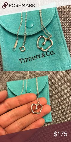 Tiffany & Co. Apple Necklace Just polished!  Gorgeous authentic Tiffany necklace with original bag.  Open to offers!  This is the medium sized one. Tiffany & Co. Jewelry Necklaces