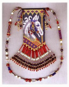 Carousel I - beaded Amulet pattern by Chris Manes of A Muse Ink Beadwork Designs
