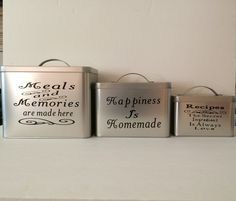 Kitchen Canister Set, Personalized Kitchen Canisters, Kitchen Storage, Great Personalized Gift, Housewarming, Mothers Day, Kitchen Decor by PerfectGiftByNonna on Etsy