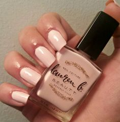'City of Angels' by Lauren B. The best soft pink EVER! long lasting nail couture