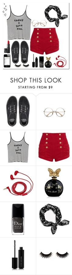 """5/1/17"" by emilyxcourtney ❤ liked on Polyvore featuring Vans, Retrò, MANGO, Pierre Balmain, FOSSIL, Annick Goutal, Christian Dior, rag & bone, Marc Jacobs and NARS Cosmetics"