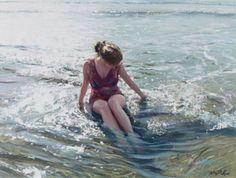 Artist: Nicholas St John Rosse; Painting: Soothing Sea; A gentle eddy