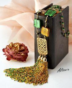 Tassel Jewelry, Jewellery, Bead Weaving, Tassels, Pendant Necklace, Bracelets, Necklaces, Boho, Necklace Ideas