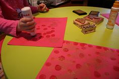 Chinese New Year Paper Lantern Craft and Buddha Board Center from Pink and Green Mama