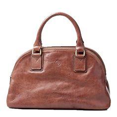 Maxwell Scott® Luxury Ladies Leather Bowling Bag Purse (LilianaS)