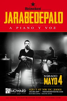 Jarabe de Palo Live @ The Howard Theatre on May 4th. Tickets on sale at Tickeri.com