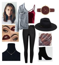 """Stylish"" by sanzianamaria-cusa on Polyvore featuring River Island, American Eagle Outfitters and Nine West"