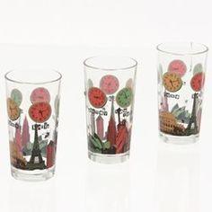 3 verres décorés World time - En verre B ET W CUISINE