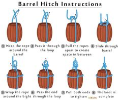 diyabschnitt abschnitt barrel hitch knots 101 diy Barrel Hitch 101 Knots Barrel Hitch 101 Knots Diy AbschnittYou can find Knots and more on our website Survival Knots, Survival Skills, Survival Items, Survival Stuff, Knots Guide, Overhand Knot, Rope Knots, Ladder Stitch, Paracord Projects