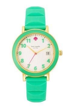 6dc118400171 kate spade new york  metro  enamel bezel silicone strap watch