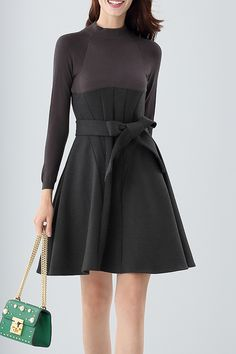 Belted Sweater Dress #fashionismypassion